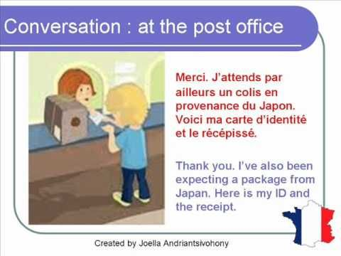French Lesson 67 - At the post office - Formal Dialogue Conversation