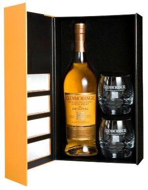 Glenmorangie Original Single Malt Scotch Whisky (GIFT SET) Engraving Available; What's better than Scotch? Scotch with Glasses! spiritedgifts.com