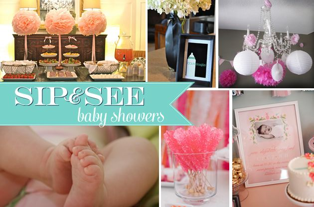 Sip And See Baby Shower Party Simplicity Baby Shower Parties