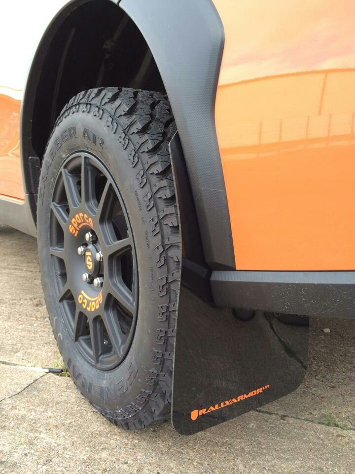 XV wheels and mudflaps by rallyarmor | XV Crostrek | Subaru outback