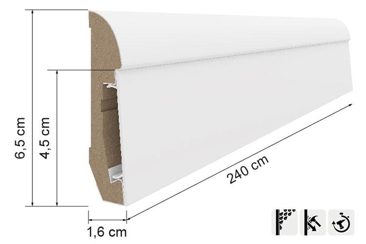 Battiscopa in MDF e PVC E101 | Battiscopa, Innovazione