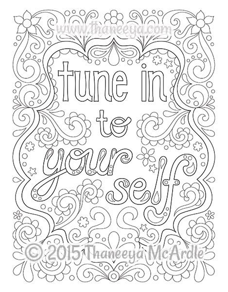 - Follow Your Bliss Coloring Book By Thaneeya McArdle Love Coloring Pages,  Quote Coloring Pages, Coloring Pages Inspirational