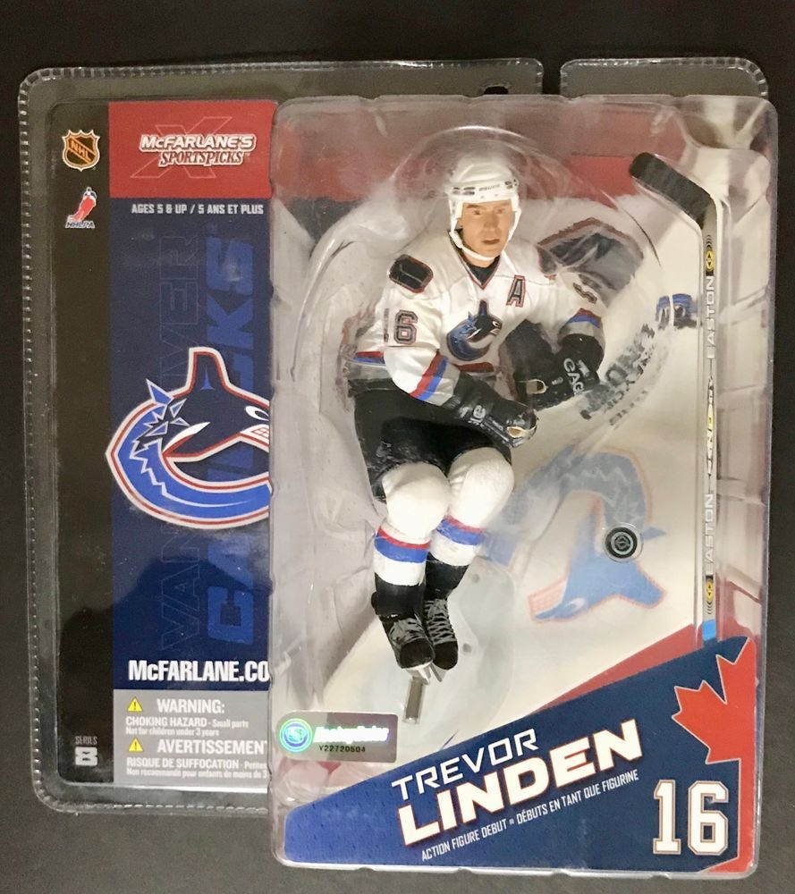 Mcfarlane Sportspicks Trevor Linden 16 Vancouver Canucks Hockey 787926714050 Ebay Nhl Hockey Action Figures Mcfarlane Toys
