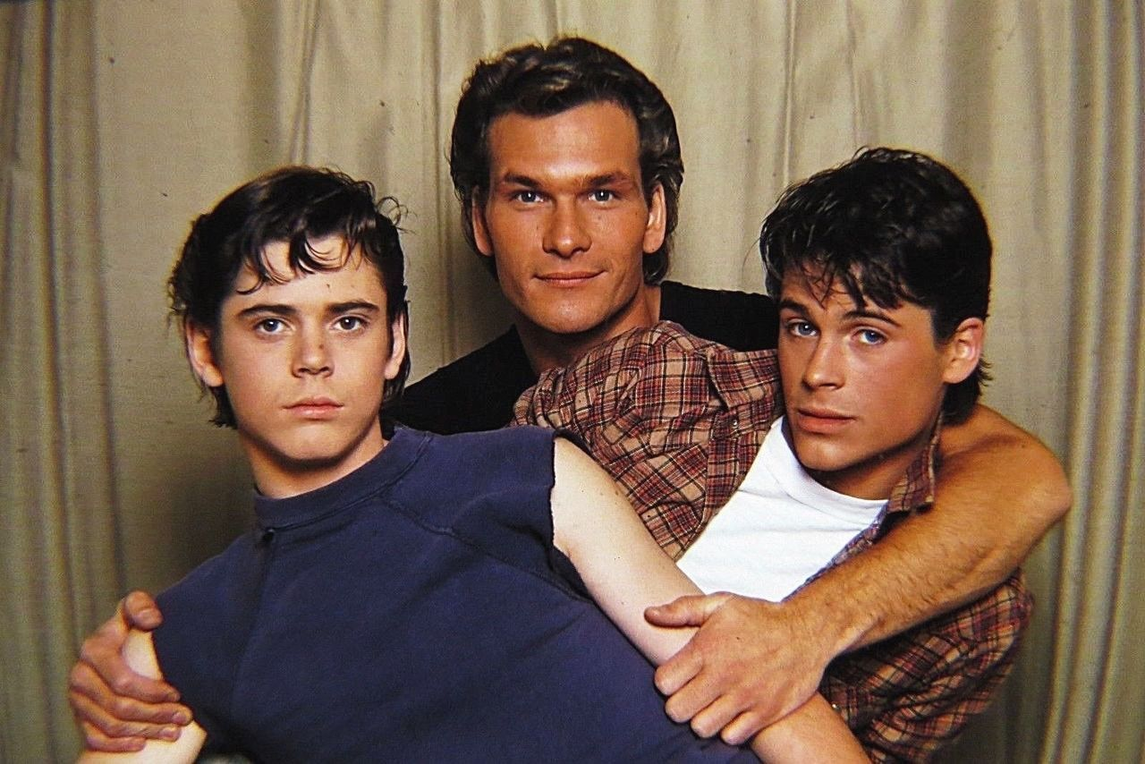 Tommy Howell, Patrick Swayze, and Rob Lowe for The