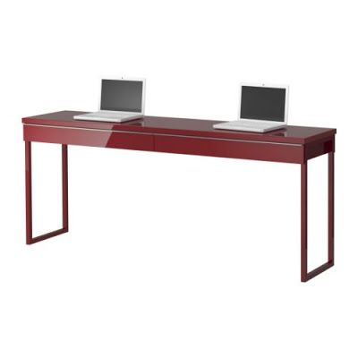 Ikea Long Narrow High Gloss Desk Great For Small Spaces Ikea