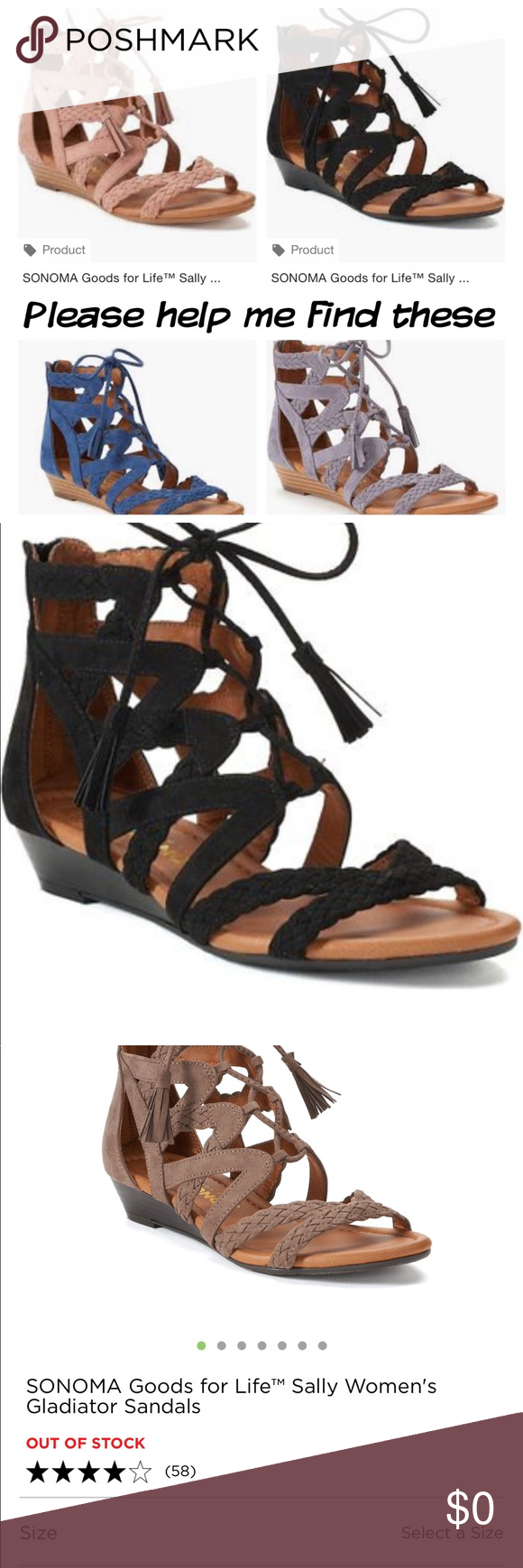373342b30 Looking For Sonoma Good Life Sally Gladiator 7.5 💃🏼Please help me find  these shoes