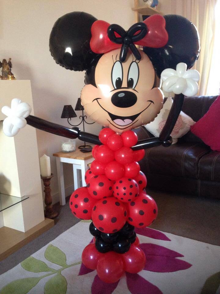 traditional red and black minnie mouse balloon model x. Black Bedroom Furniture Sets. Home Design Ideas
