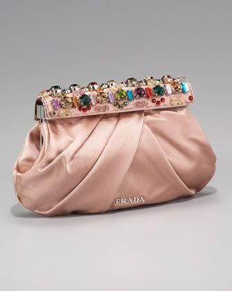9eadbf323c6197 Raso Jeweled Clutch Nudo/Nude | Clutch it | Embellished clutch bags ...