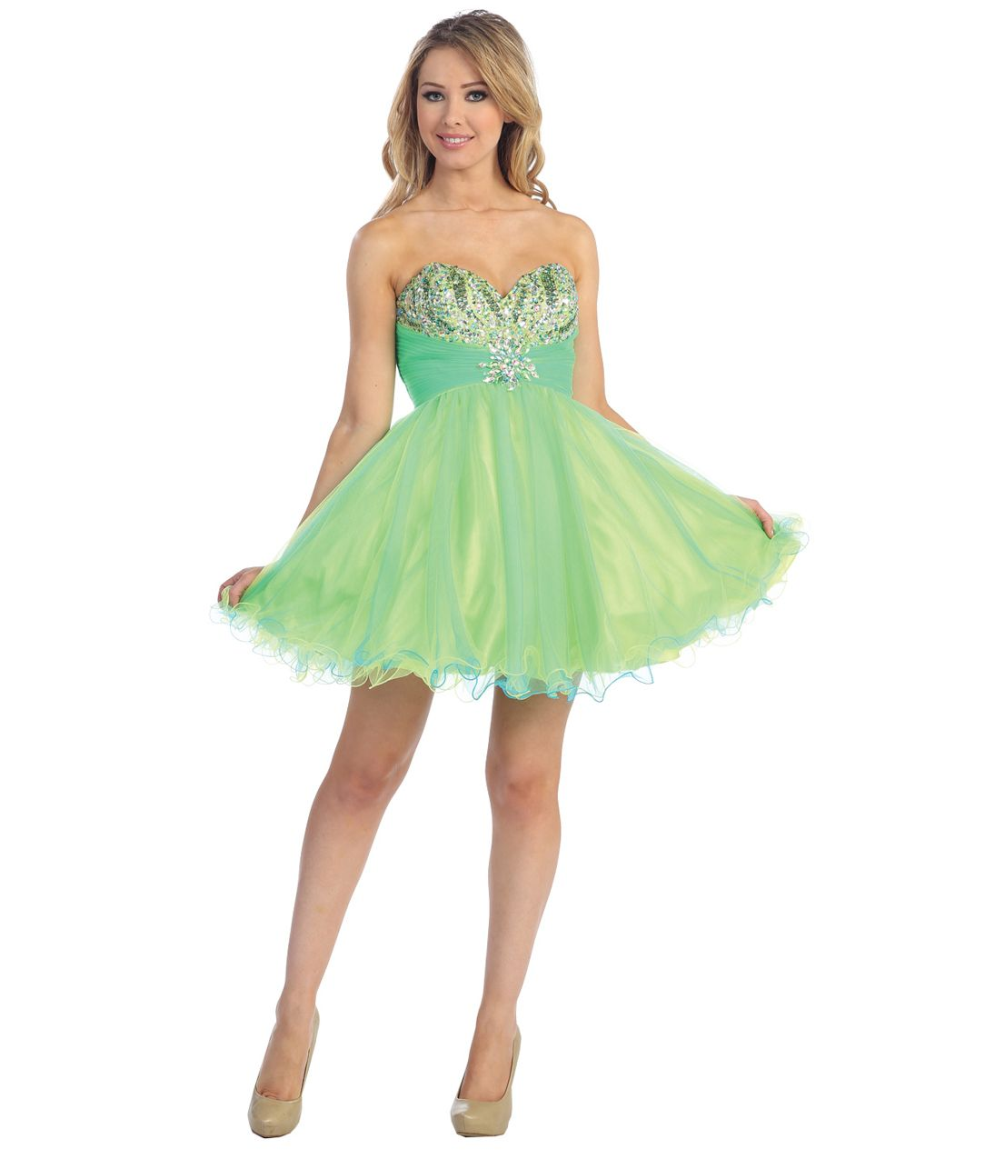 10  images about Green dresses on Pinterest  Neon Neon prom ...