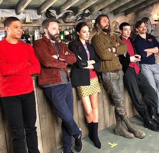 Justice League: Ray Fisher, Ben Affleck, Gal Gadot, Jason