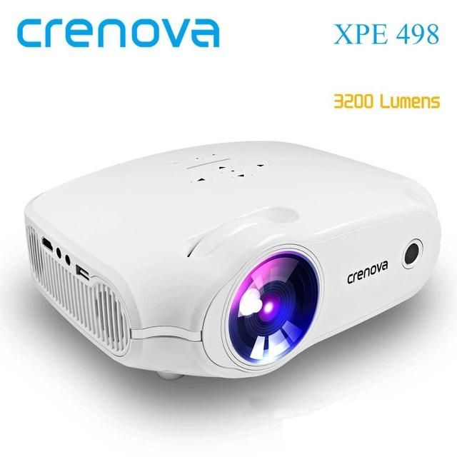 Crenova Newest Android Projector 3200 Lumens Android 7 1 2 Os Home Theater Movie Projector Basic Version White In 2021 Video Projector Led Projector Projector Hd