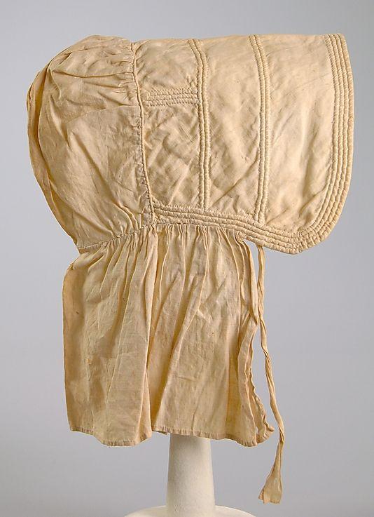 Corded bonnet, ca. 1845