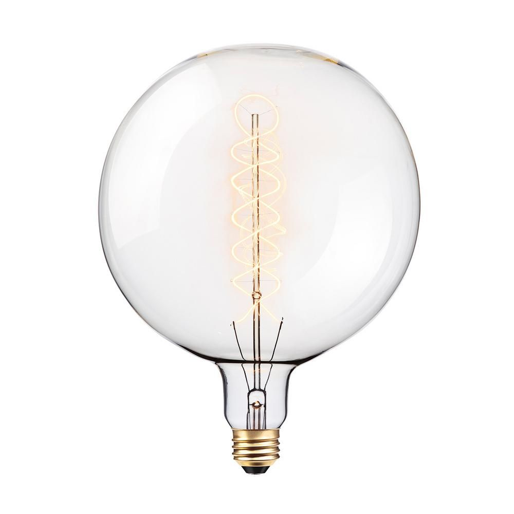 Globe Electric 100 Watt G200 Oversized Vintage Incandescent Light Bulb 80128 Dimmable Light Bulbs Light Bulb Incandescent Light Bulb