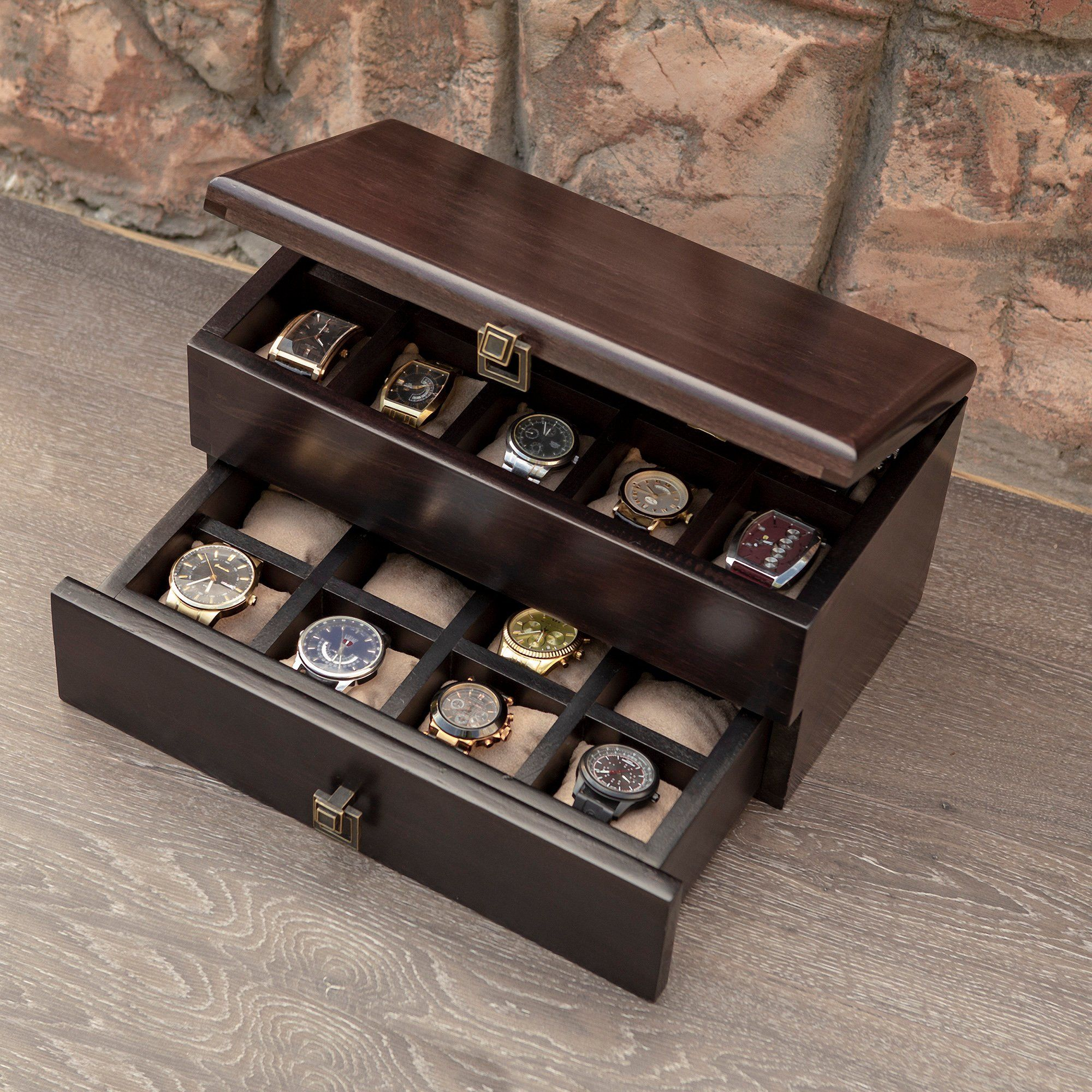Watch Case From The Solid Wood Dabo Hetch Ds10 Walnut Wood Watch Box For Men Walnut Watch Box Man S Jewelry B Wood Watch Box Mens Watch Box Mens Jewelry Box