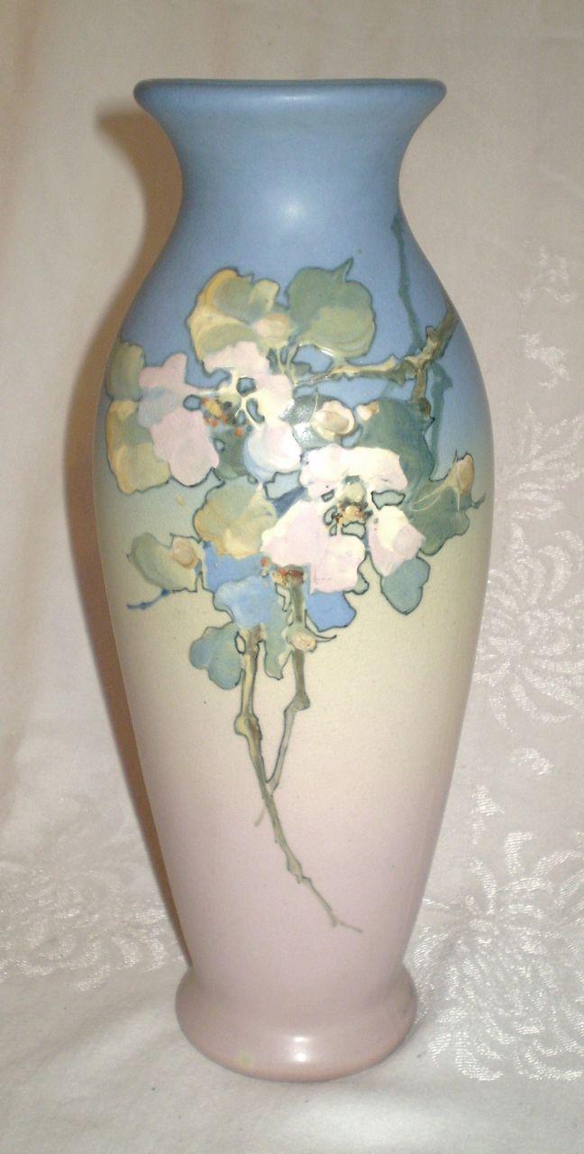 Large hudson weller pottery vase hester pillsbury ceramics weller pottery hudson 13 vase artist signed mae timberlake circa 1920s reviewsmspy