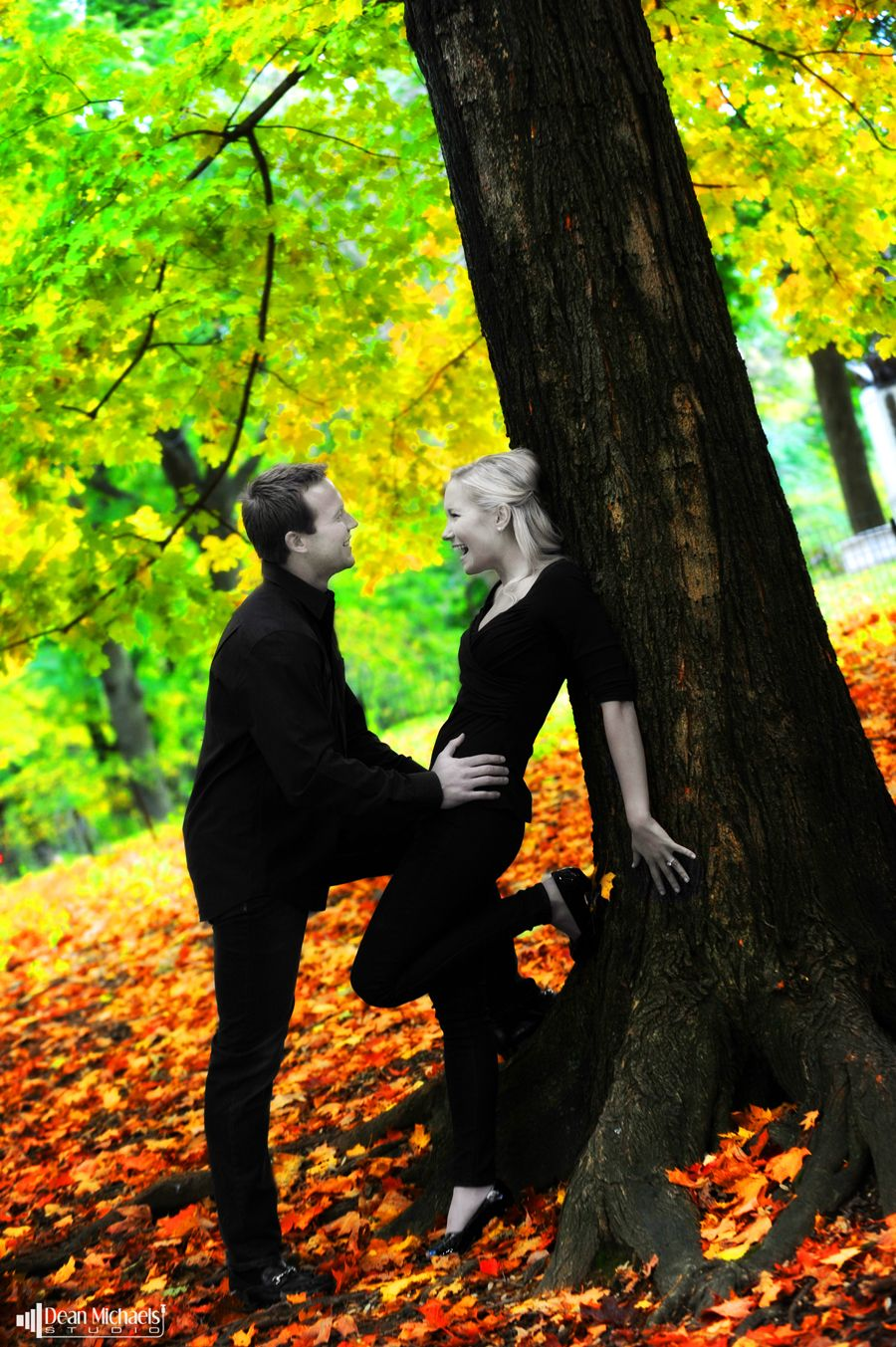 Chad and Kate's 2011 #engagement shoot in Central Park!  (courtesy of New Jersey #Engagement Photography - Dean Michaels Studio) #wedding #engaged
