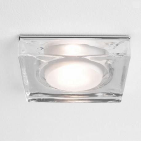 Spot Encastrable Carre Lampe Vancouver 230v Ip65 Chrome Lumiere Salle De Bain Luminaire Plafond Luminaires Encastres