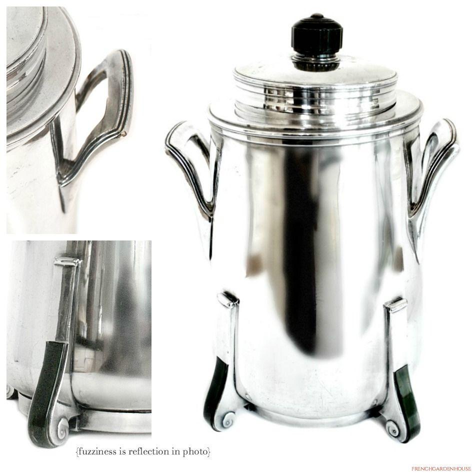 Art Deco Silver Plated Heavy Ice Bucket