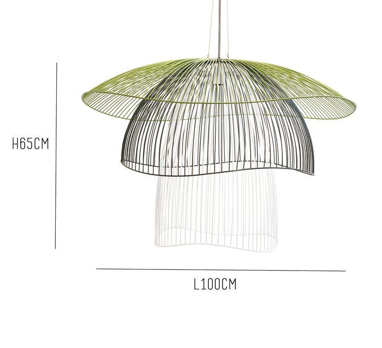 Pendant Light, PAPILLON GM, Blue,green,white, Ø100cm
