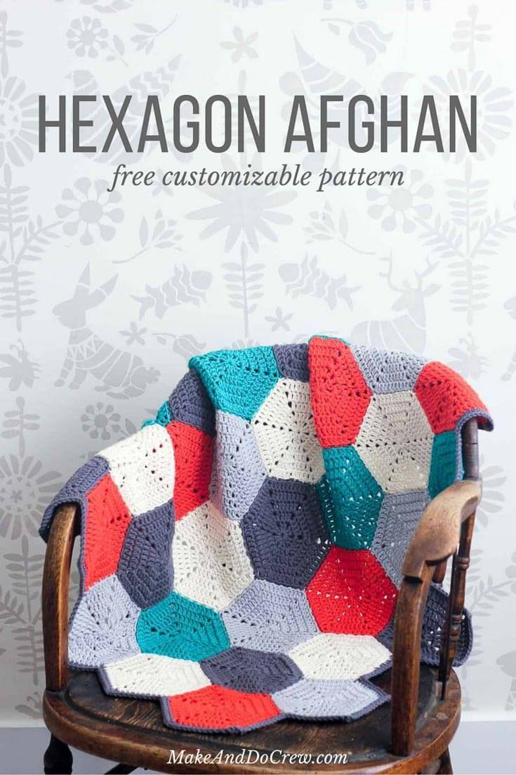 Happy Hexagons\' Free Crochet Afghan Pattern | Yarns | Pinterest ...