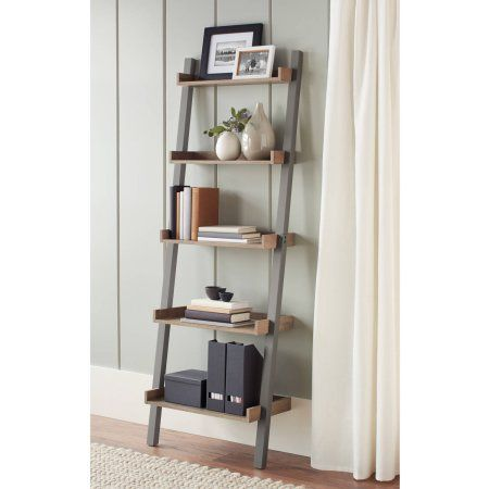 Better Homes And Gardens Bedford 5 Shelf Leaning Bookcase Multiple Colors