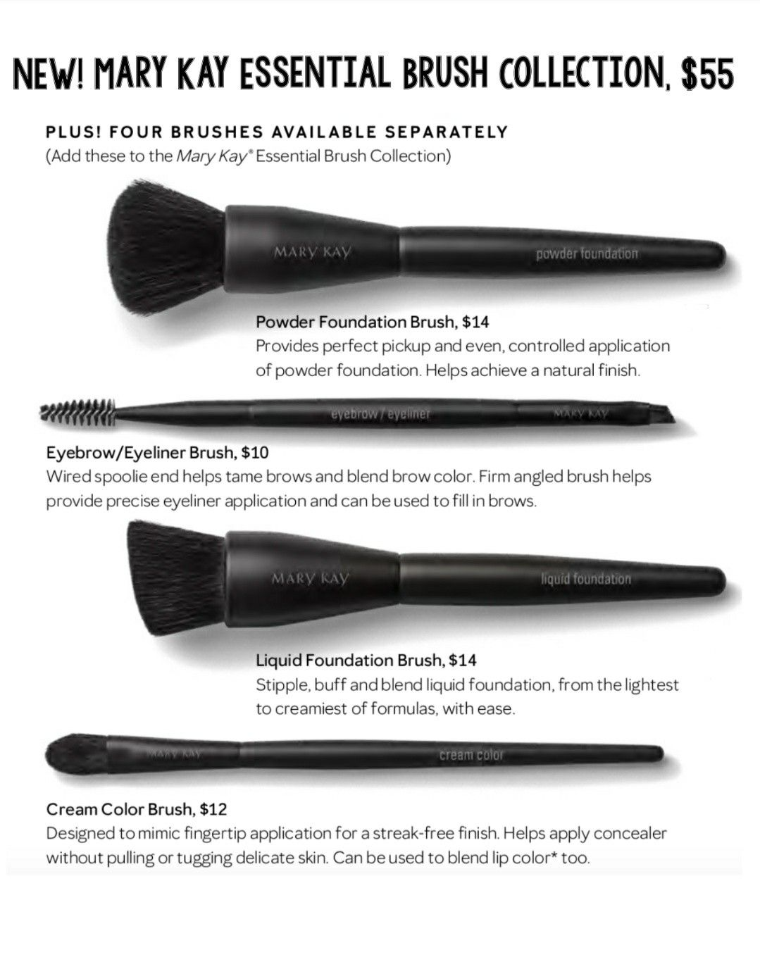 Mary Kay brush collection 2018