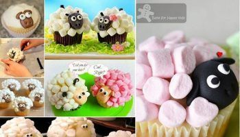 Chocolate Cupcakes With Strawberry Inside #cutemarshmallows marshmallow-sheep-cupcakes-1 #cutemarshmallows Chocolate Cupcakes With Strawberry Inside #cutemarshmallows marshmallow-sheep-cupcakes-1 #cutemarshmallows