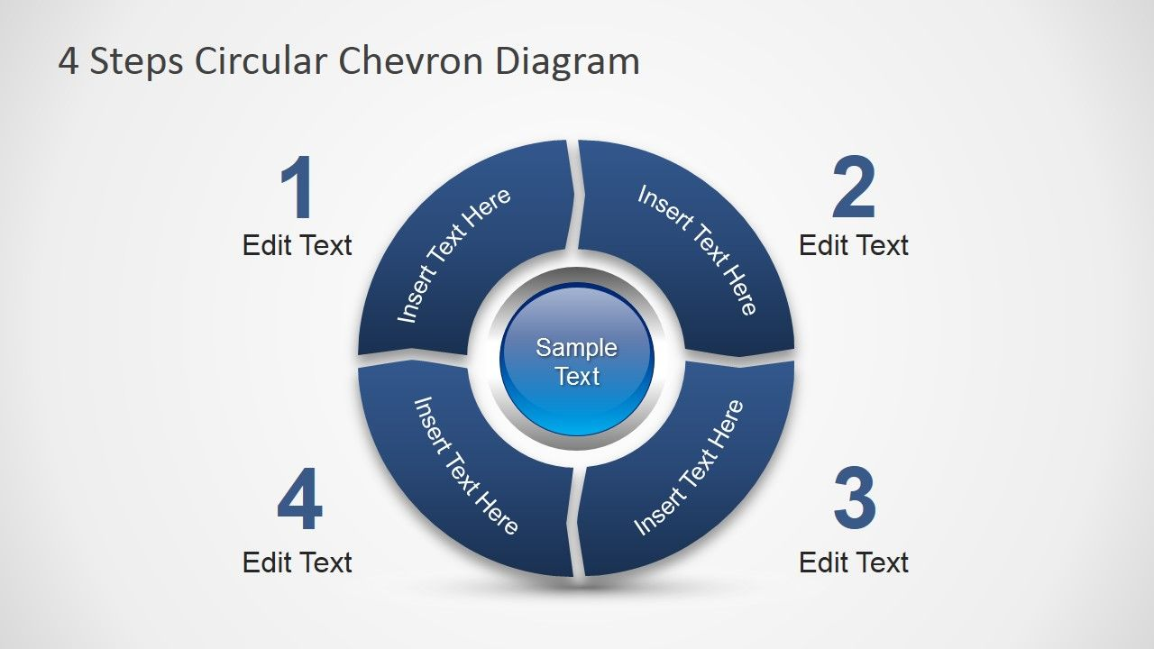 4 steps circular chevron powerpoint diagram diagrams pinterest