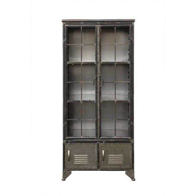 Metal Cabinet With 4 Doors Black Da5075 By Creative Co Op Alert1