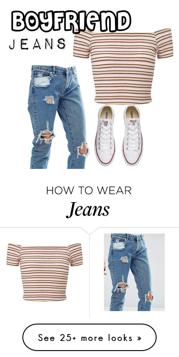 """""""Boyfriend jeans"""" by hwebb221001 on Polyvore featuring ASOS, Miss Selfridge and Converse"""