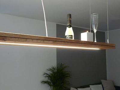 Details zu Hängelampe Holz Eiche geölt mit Ober und Unterlicht