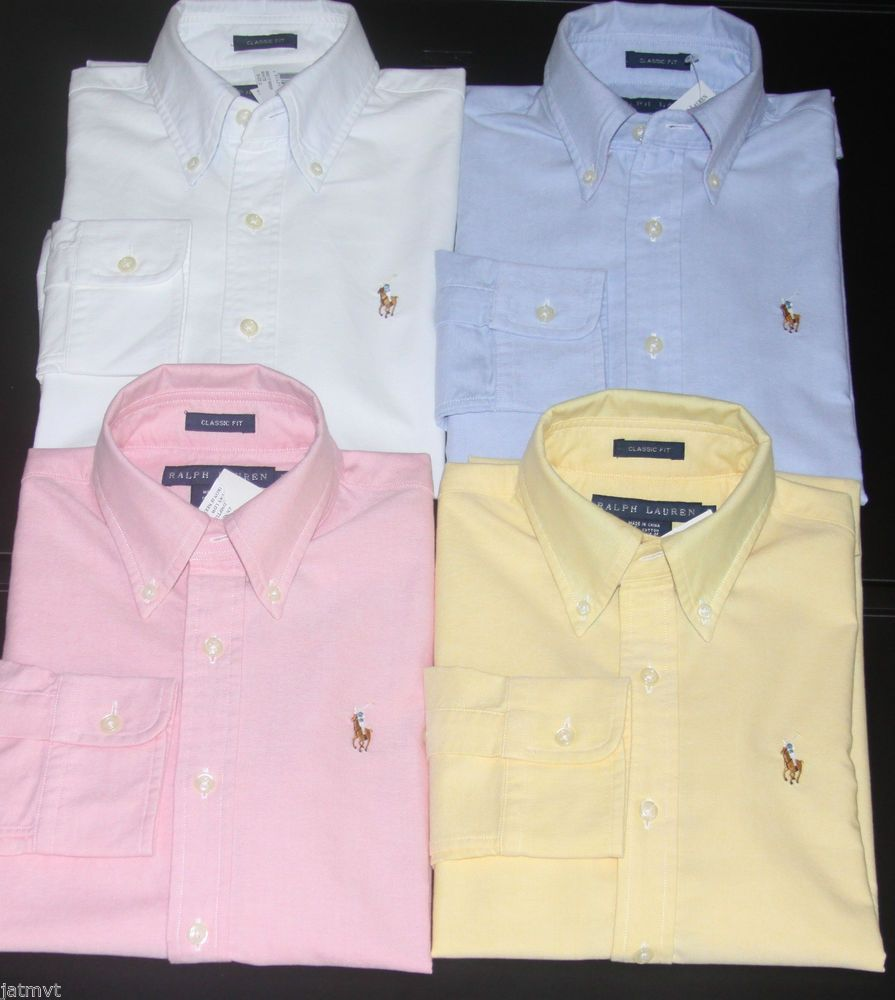 New polo ralph lauren women 39 s long sleeve oxford button for Womens button down shirts fitted