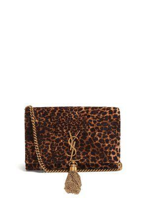 16d768ab55b1 Kate small leopard-print velvet cross-body bag