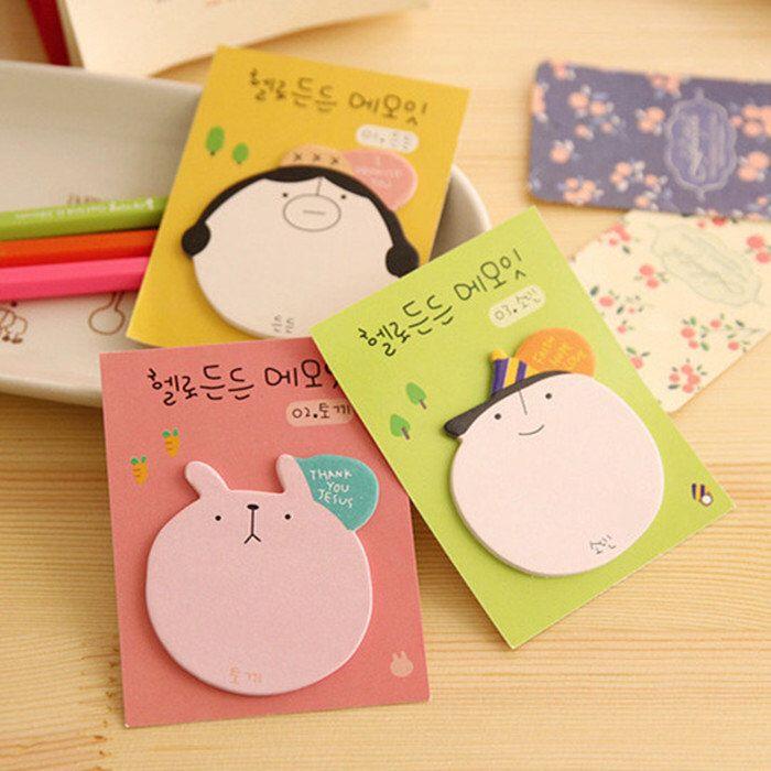 cute sticky notes bookmark rabbit sticky notes by pokemongarden on