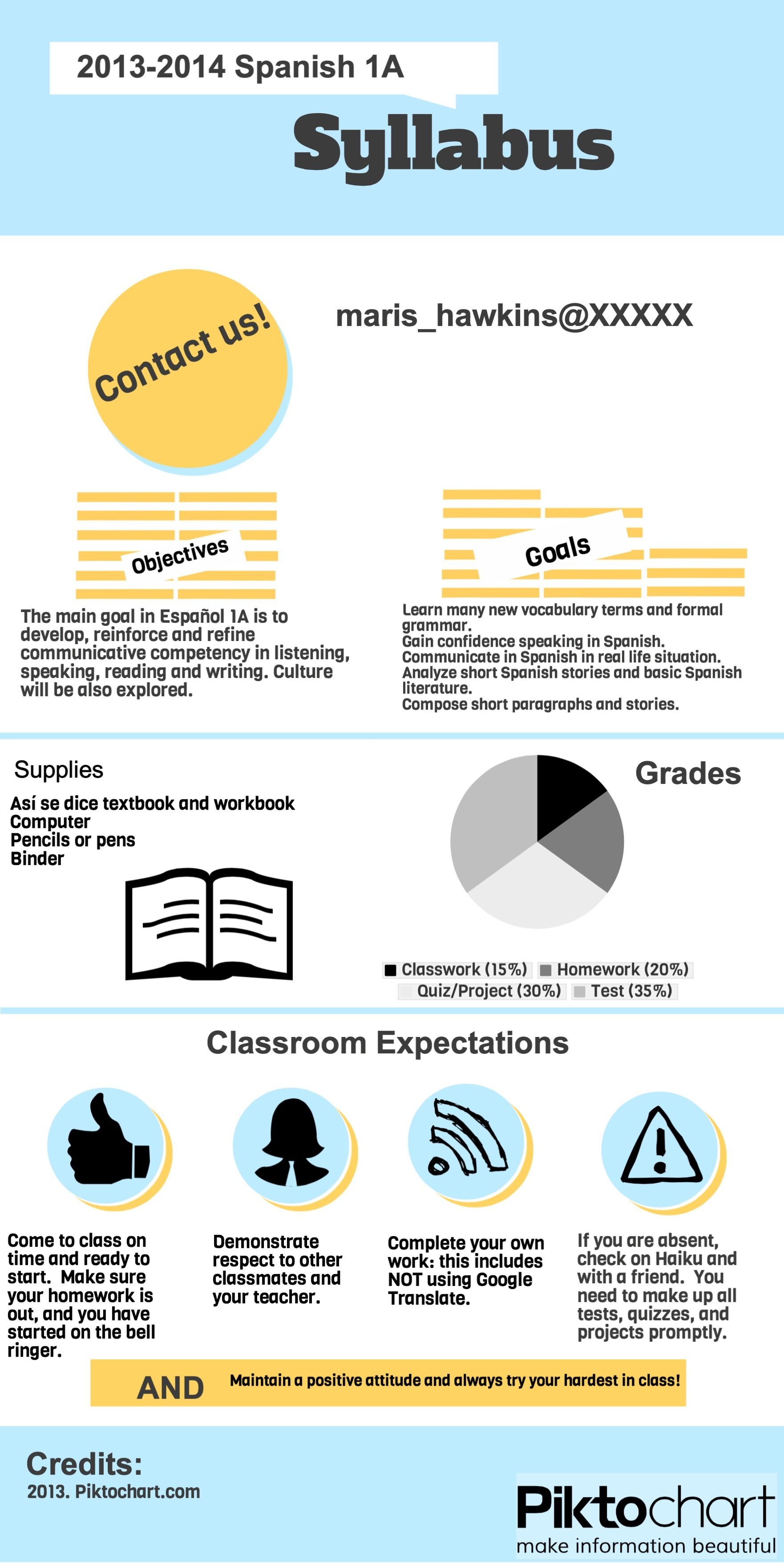 Syllabus Example  Created In Free Piktochart Infographic