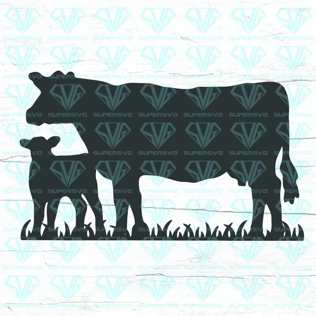 Download Cow And Calf SVG Files For Silhouette, Files For Cricut ...