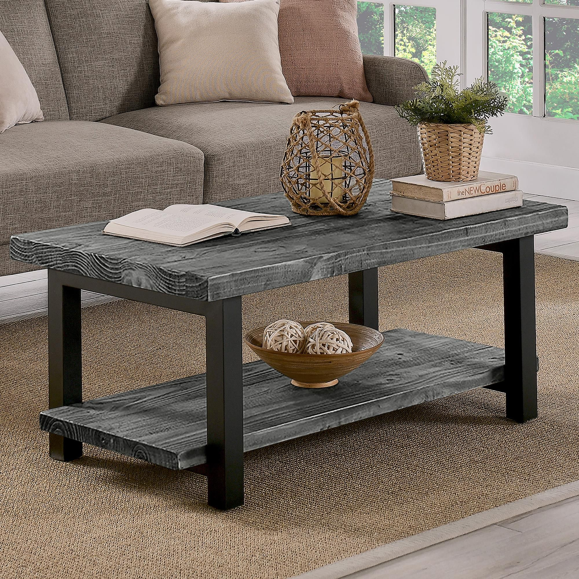 Bolton Furniture Pomona 42 Coffee Table In Black Metal Nfm Coffee Table Alaterre Furniture Coffee Table Wood [ 2000 x 2000 Pixel ]