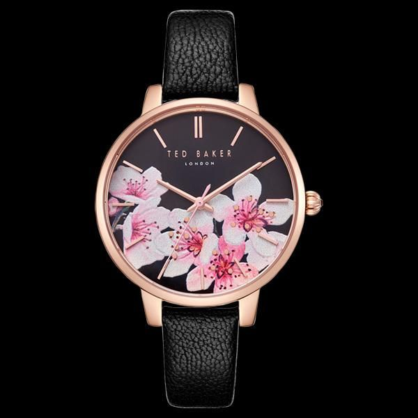 983a8bc18dc3 Ted baker kate rose gold black dial oriental blosom floral watch ...