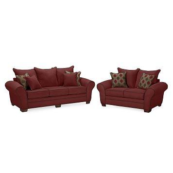 Super Strauss Wine Upholstery 2 Pc Living Room Furniture Com Cjindustries Chair Design For Home Cjindustriesco