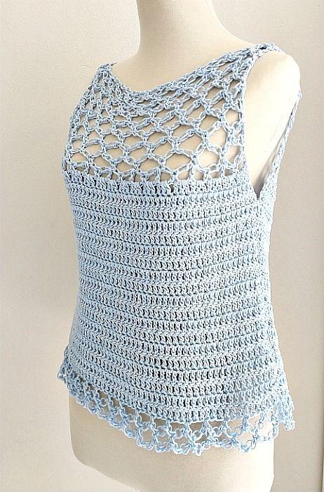 Recomendados Handwork Diy Ganchillo Ropa Remeras Tejidas A Crochet Blusa Tejida A Gancho