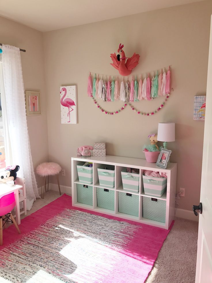 Pink and Mint Girls Playroom Tour images