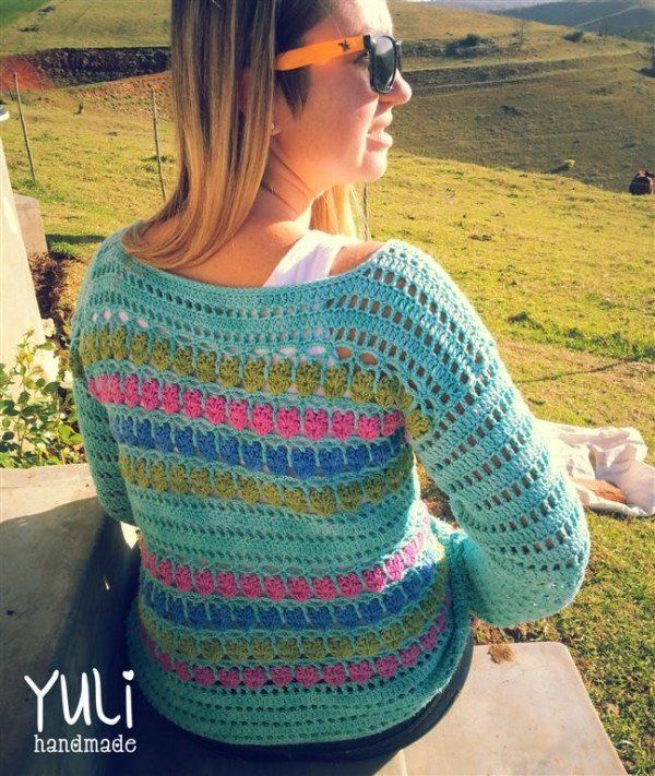 Crochet Sweater Pattern free from Yuli Handmade | Crotchet ...