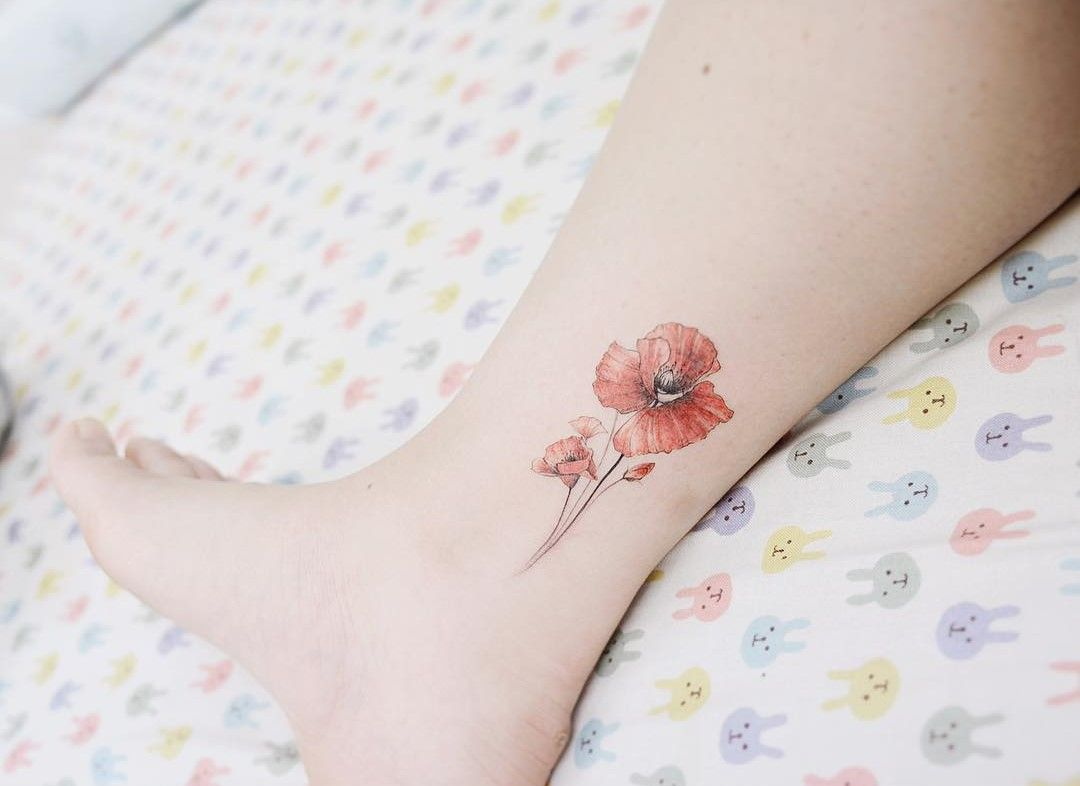 39 Luxurious Poppy Tattoos | Poppies Tattoo, Poppy Tattoo
