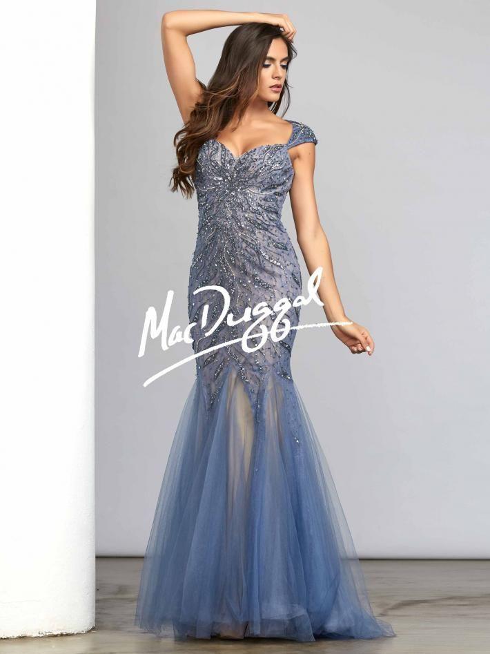 Smoky Blue Bridesmaid Dresses and Prom