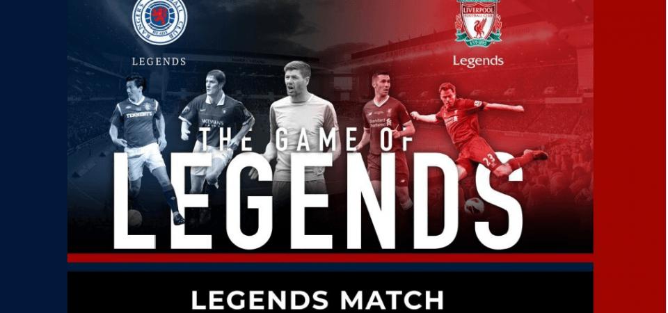 Rangers Legends vs Liverpool legends live stream and team