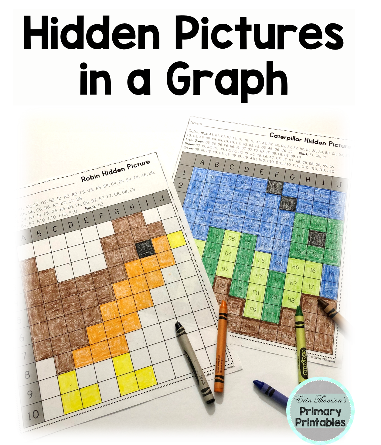 Hidden Pictures In A Graph Seasons Spring