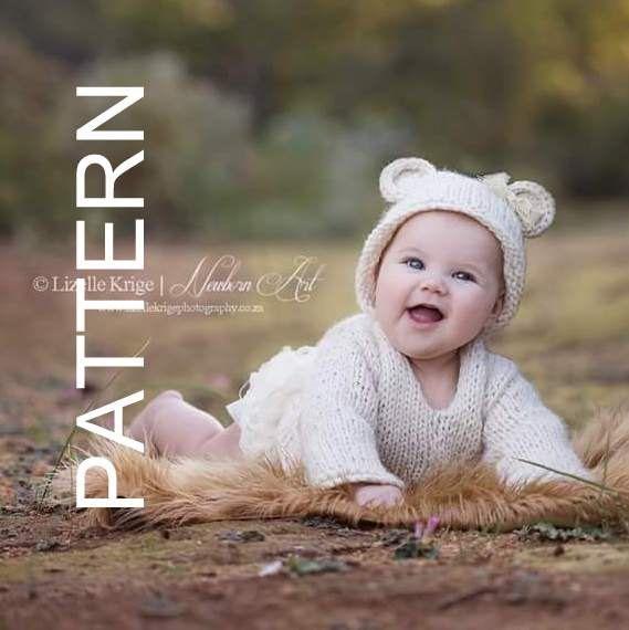 Baby Bear Hoodie Pattern - 0-6 months bear hoodie pattern - Baby ...