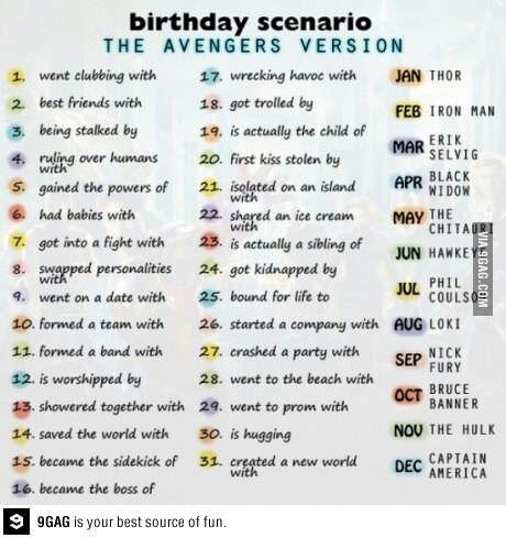 I had a fight with Thor
