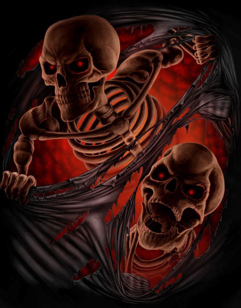 Прикольные картинки скелетов и черепов