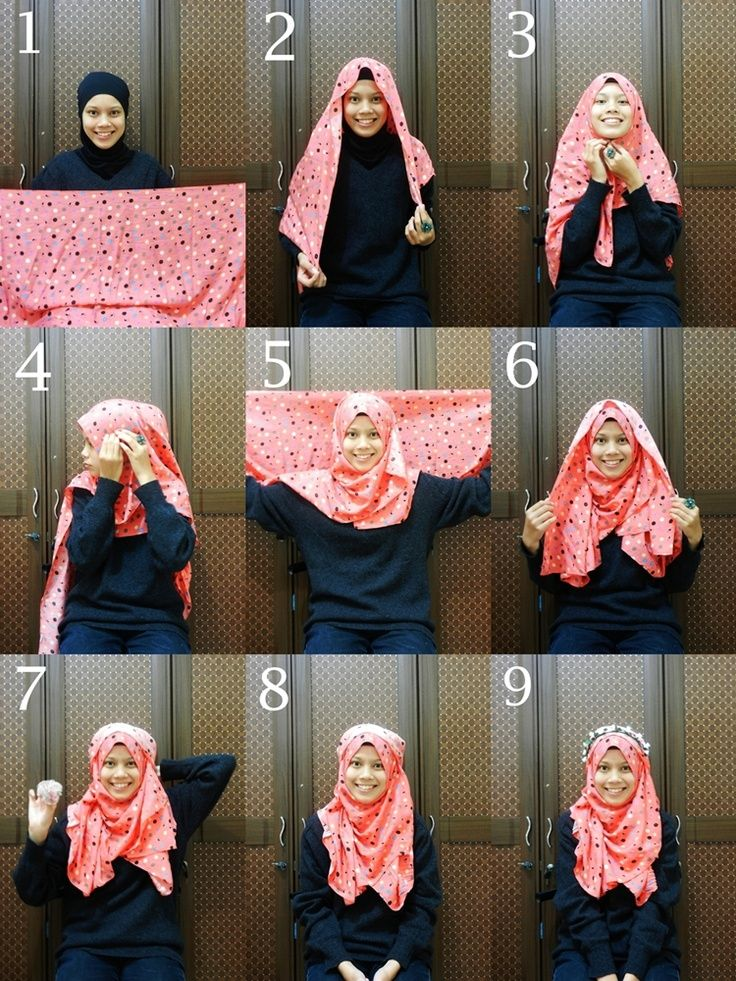 Tutorial Hijab Segi Empat Simple Jilbab Sederhana Gaya Hijab Model Pakaian Hijab